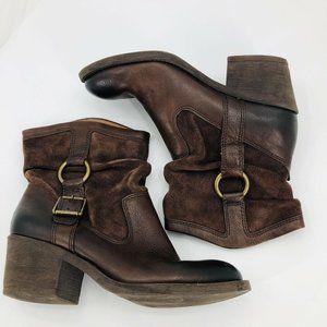Lucky Brand Boxer Slouchy Buckle Leather Boots